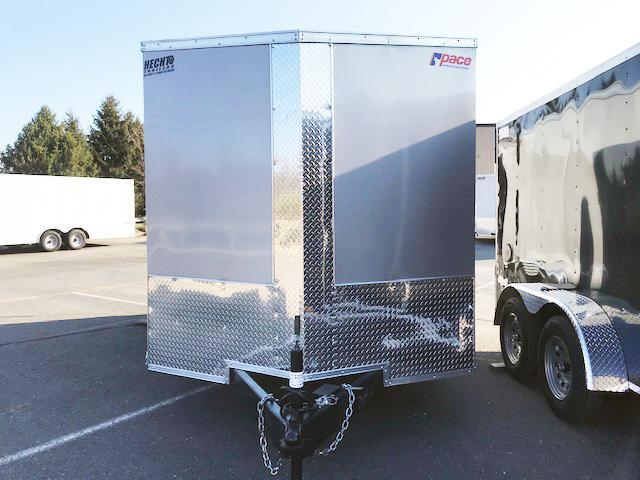 "2021 Pace American 7X14 JVSE TE2 V 6""X RAMP SVNT SILVER Enclosed Cargo Trailer"