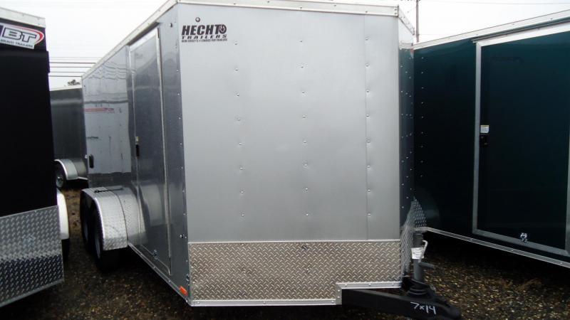 2020 Pace American 7X14 OBDLX TE2 30VS RAMP SILVER Enclosed Cargo Trailer