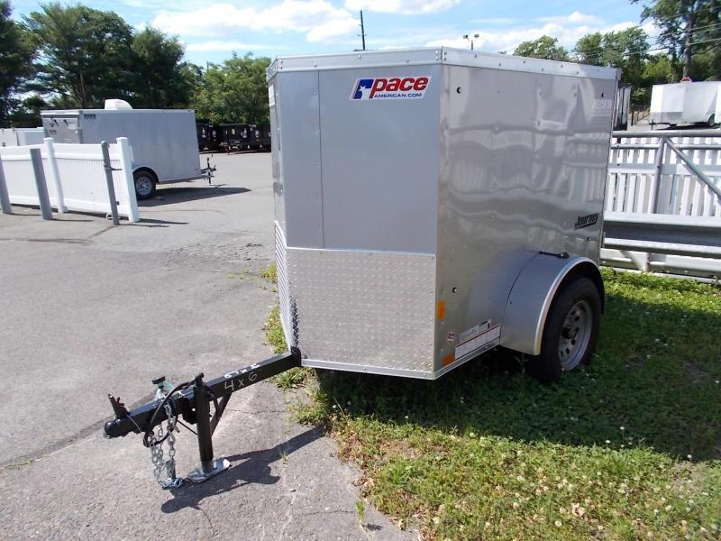 2021 Pace American 4X6 JV SI2 SILVER Enclosed Cargo Trailer