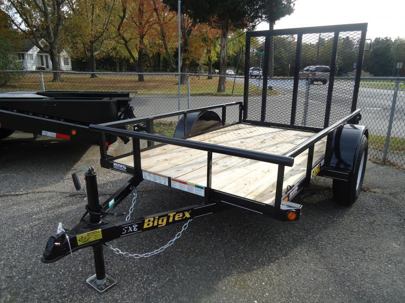 2021 Big Tex Trailers UT 5X8 30SA-08BK4RG BLACK Utility Trailer