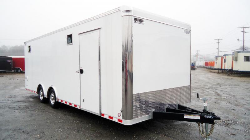 "2020 Bravo Trailers 8.5X24 ST TA3 6""X HD RAMP DRAFT COIN WHITE Car / Racing Trailer"