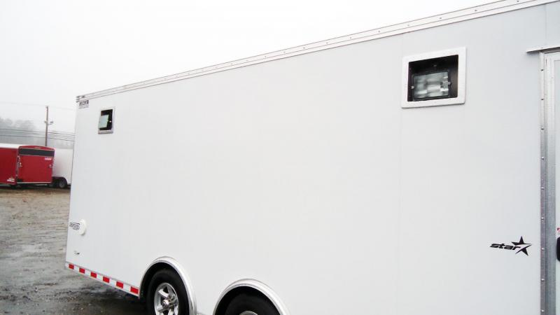 "2020 Bravo Trailers 8.5X24 ST TA3 6""X HD RAMP DRAFT COIN WHITE Car / Racing Trailer"