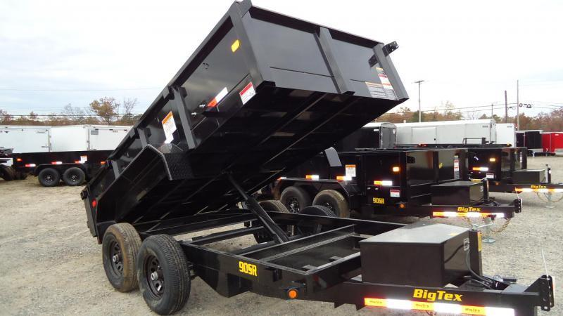 2021 Big Tex Trailers DT 6X12 90SR 12BK 7SIR BLACK Dump Trailer