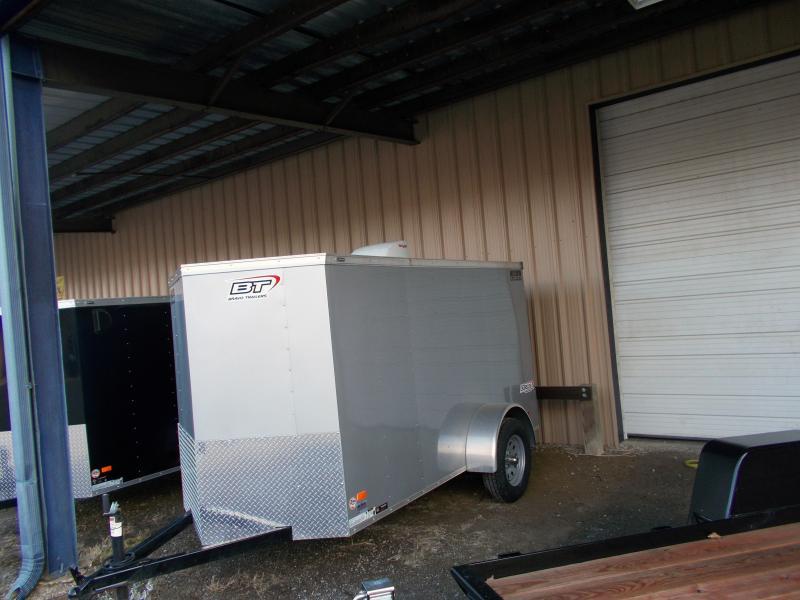 2019 Bravo Trailers 5X10 SC SA V RAMP MINI VNT APP SILVER Enclosed Cargo Trailer