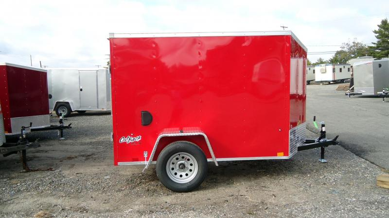 2022 Pace American 5X8 OBDLX SI2 V DBLD SVNT RED Enclosed Cargo Trailer
