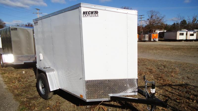 2021 Pace American 5X8 OBDLX SI2 24VS DRD SVNT WHITE Enclosed Cargo Trailer