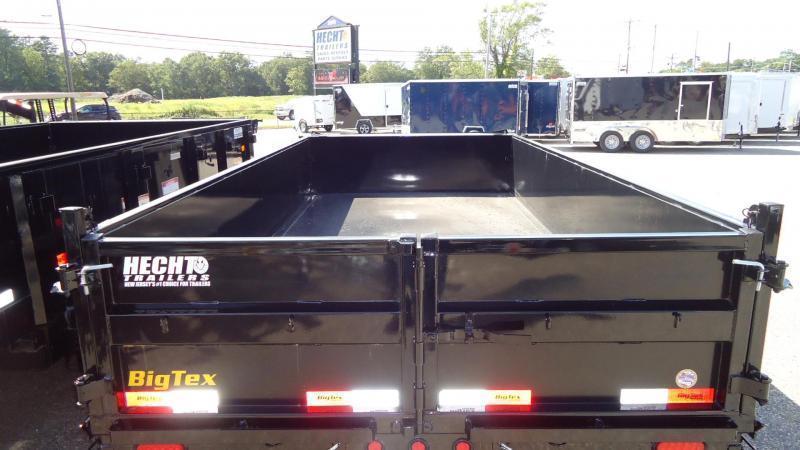 2021 Big Tex Trailers DT 7X14 14LP 14BK6SIRPD BLACK Dump Trailer