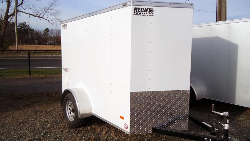 "2021 Bravo Trailers 5X8 SC SA V 6""X LD RAMP WHITE Enclosed Cargo Trailer"