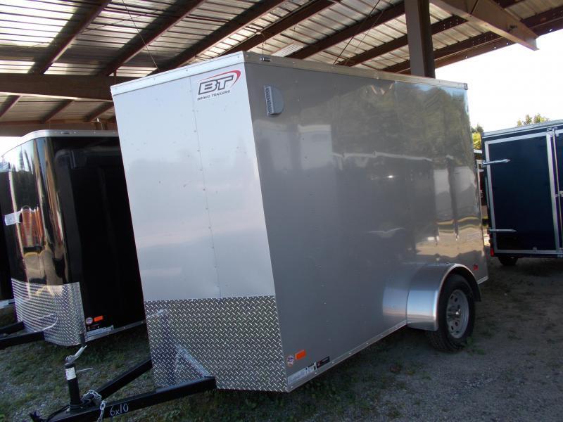 "2020 Bravo Trailers 6x10 SC SA 6""X 18""V APP SILVER Enclosed Cargo Trailer"