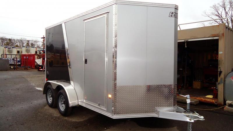 2020 E-Z Hauler 7X12 EZEC E-TRAC SILVER & BLACK Enclosed Cargo Trailer