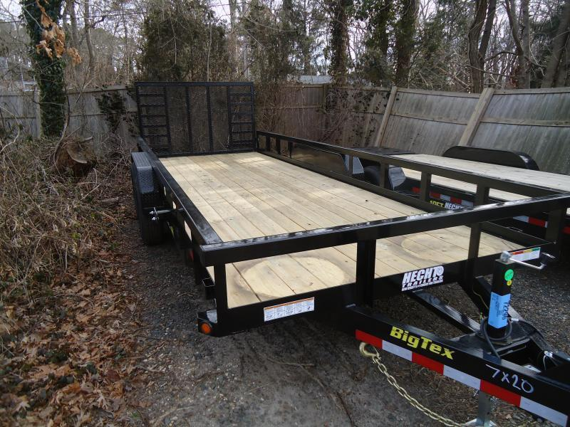 2021 Big Tex Trailers UT 7X20 14PI 20BK 4SAG BLACK Equipment Trailer