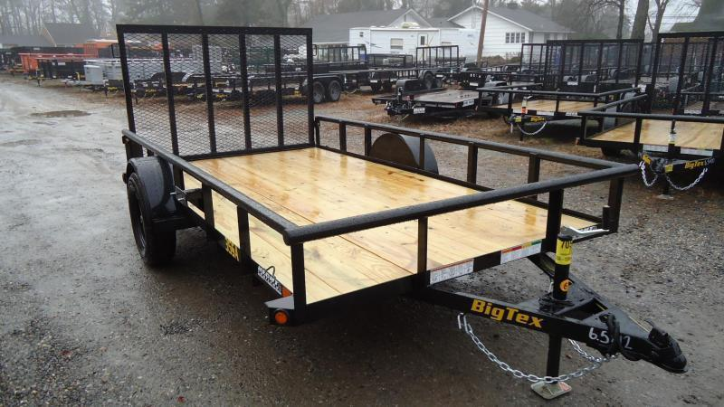 2021 Big Tex Trailers UT 6.5X12 35SA 12BK 4RG BLACK Utility Trailer