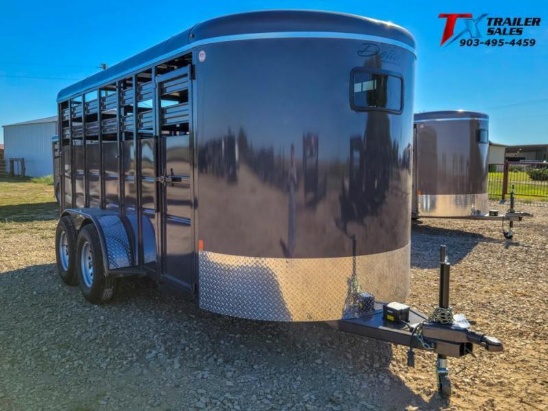 2021 Delta Manufacturing DELTA 600 DELUXE BUMPER PULL LIVE STOCK 6' X 16' Livestock Trailer