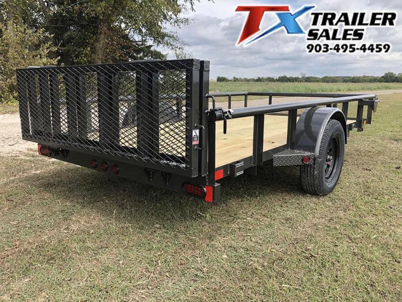 2021 East Texas 77 X 12 SINGLE AXLE 3K Utility Trailer