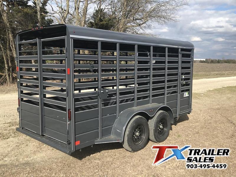 2020 BCI Trailers 16' x 6' Eco Series BP Livestock Trailer