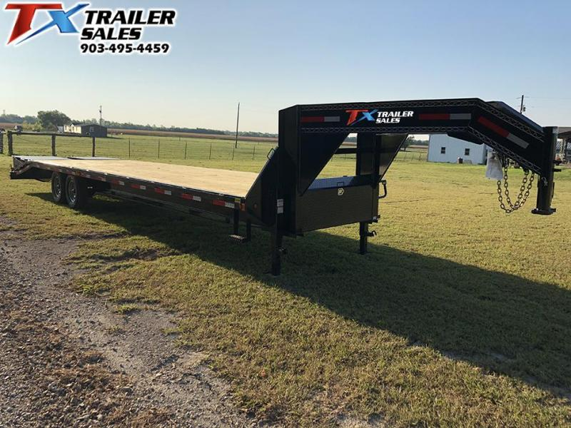 "2021 East Texas 102"" X 32' GOOSENECK HD DECK OVER 16K Flatbed Trailer"