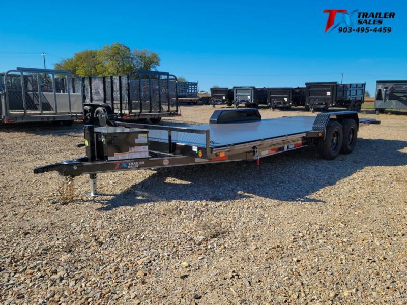 "2022 East Texas 83"" X 20' TONGUE DROP TILT DECK 10K Equipment Trailer"