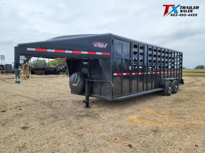 2022 Maxxim Industries 6'.8'' X 24' GOOSENECK LIVESTOCK TRAILER 14K Livestock Trailer
