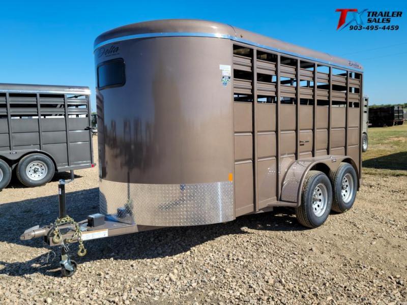 2021 Delta Manufacturing DELTA 500 SERIES BUMPER PULL LIVE STOCK 7k Livestock Trailer