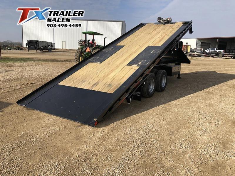 """2021 East Texas 102"""" X 24' GN DECK OVER TILT 24K Flatbed Trailer"""