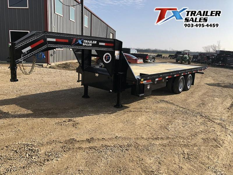 "2021 East Texas 102"" X 24' GN DECK OVER TILT 24K Flatbed Trailer"