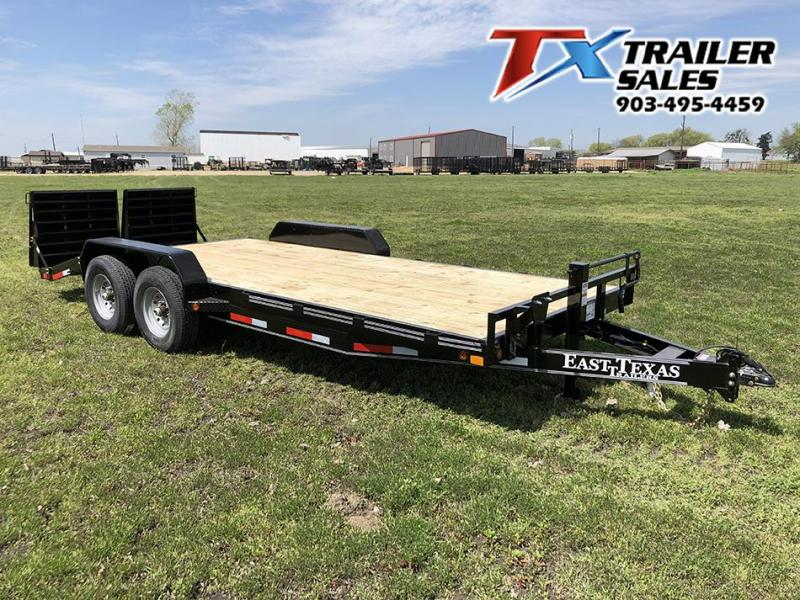 "2021 East Texas 83"" X 20' CAR HAULER 14K Equipment Trailer"