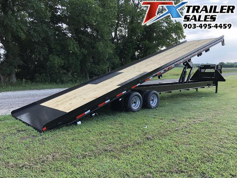 2021 East Texas 102 X 40 GOOSENECK LOW-PRO DECK OVER TILT 24K Flatbed Trailer Container Hauler