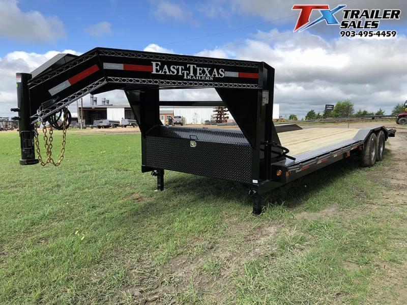 "2021 East Texas 102"" X 26' GOOSENECK LOW BOY CARHAULER/EQUIPMENT 16K Equipment Trailer"