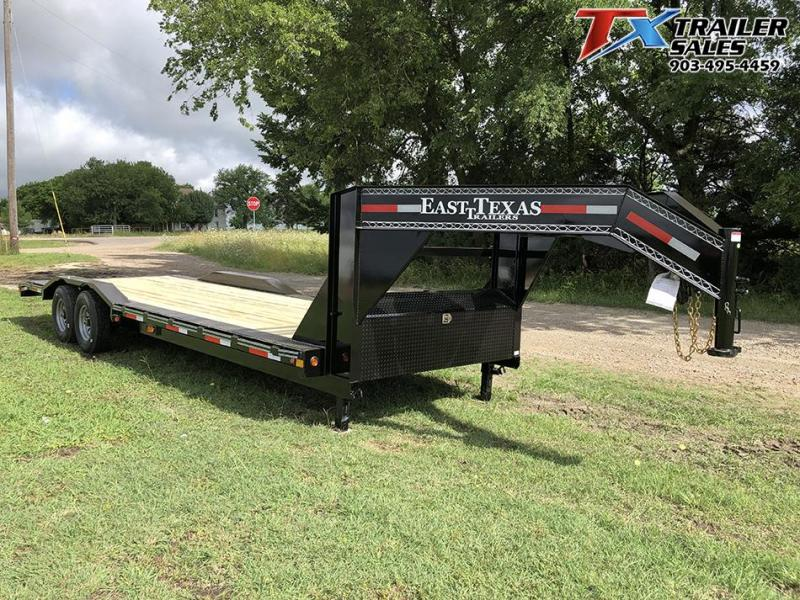 "2021 East Texas 102"" X 26' GOOSENECK LOW BOY CARHAULER/EQUIPMENT 16K Equipment Trailer"