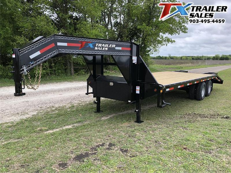 2021 East Texas 102 X 25 GOOSENECK HD DECK OVER 20K Flatbed Trailer