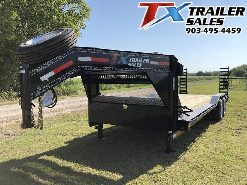"2021 East Texas 102"" X 24' GOOSENECK LOW BOY EQUIPMENT 16K Car / Racing Trailer"