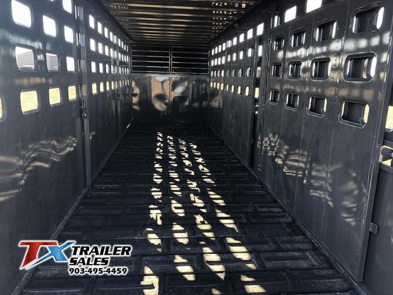 2021 Maxxim Industries 6.8 X 24' Gooseneck 14k Livestock Trailer
