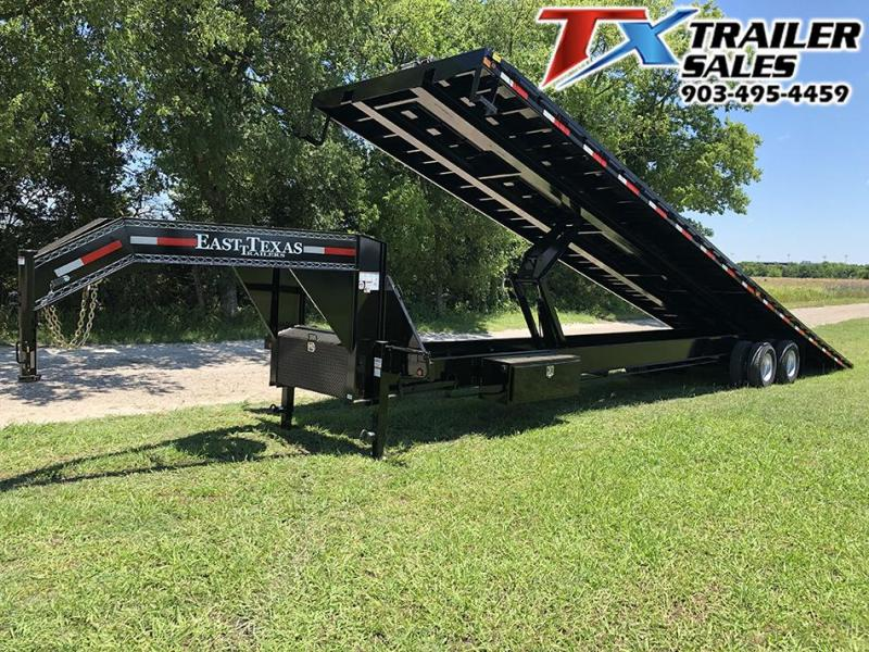 2021 East Texas 102 X 40 GOOSENECK LOW-PRO DECK OVER TILT 20K Flatbed Trailer Container Hauler