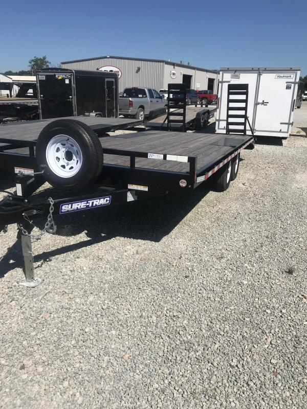 2019 Sure-Trac 8.5x17+3 Deckover Trailer ST102173TD02A-B-100 Flatbed Trailer