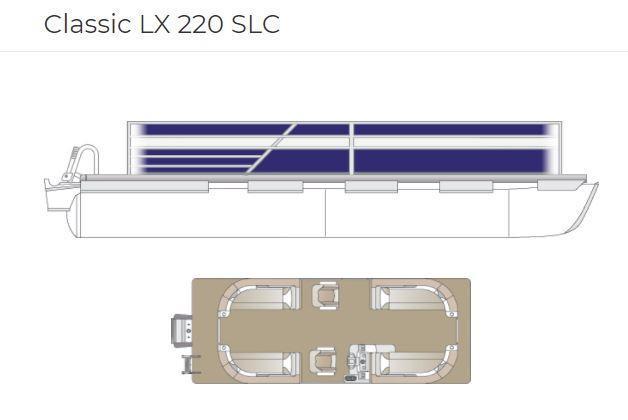 2022 Crest Classic LX 220 SLC Pontoon with Trailer