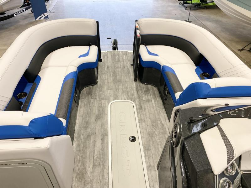 2022 Crest Caribbean RS 230 SLC Pontoon Boat with Trailer