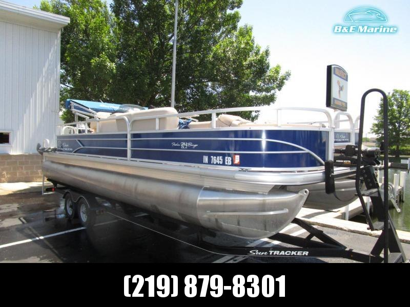 2017 Sun Tracker Fishin' Barge 24 Signature Pontoon Boat