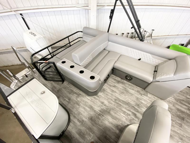 2022 Crest Classic Platinum 220 SLS Pontoon with TRAILER