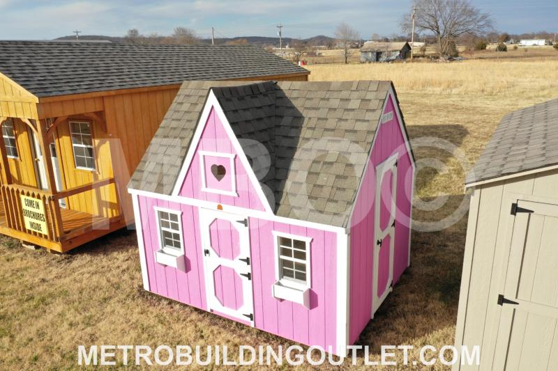 ***DISCOUNTED*** 8X10X5 VICTORIAN PLAYHOUSE