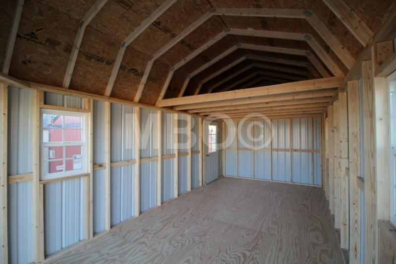 12x24 LOFTED BARN PORTABLE GARAGE