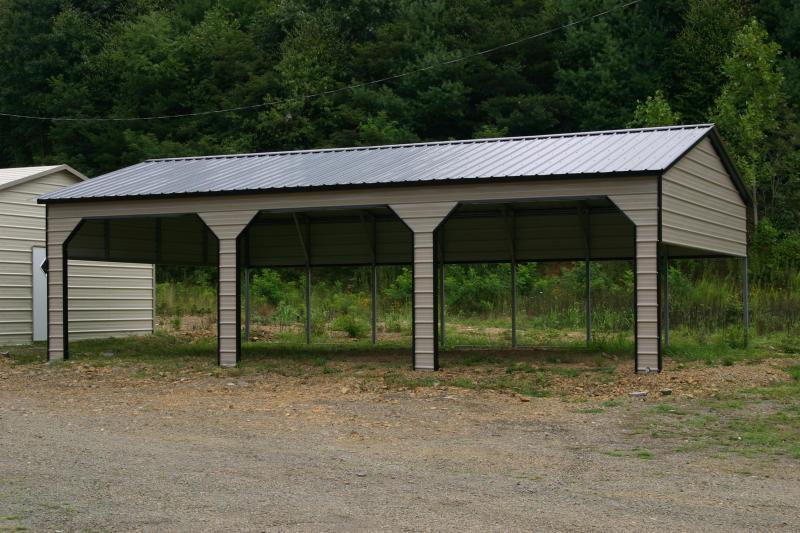 22X35X9 Vertical Roof Carport #CP048