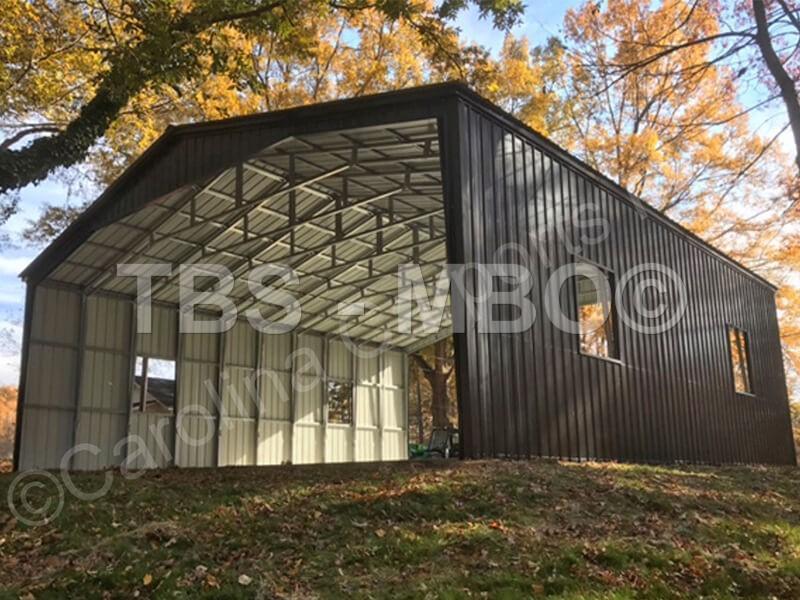 40X40X14 Vertical Roof Carport #CP111