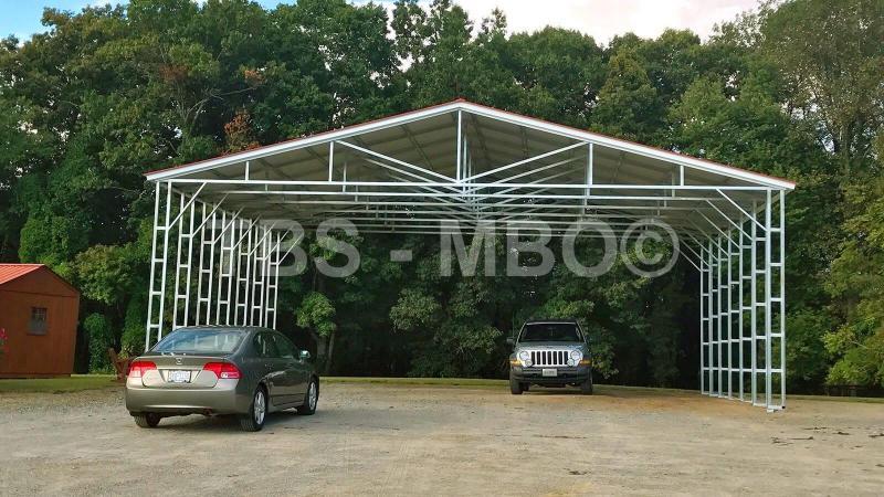 40X24X12 Vertical Roof Carport #CP109