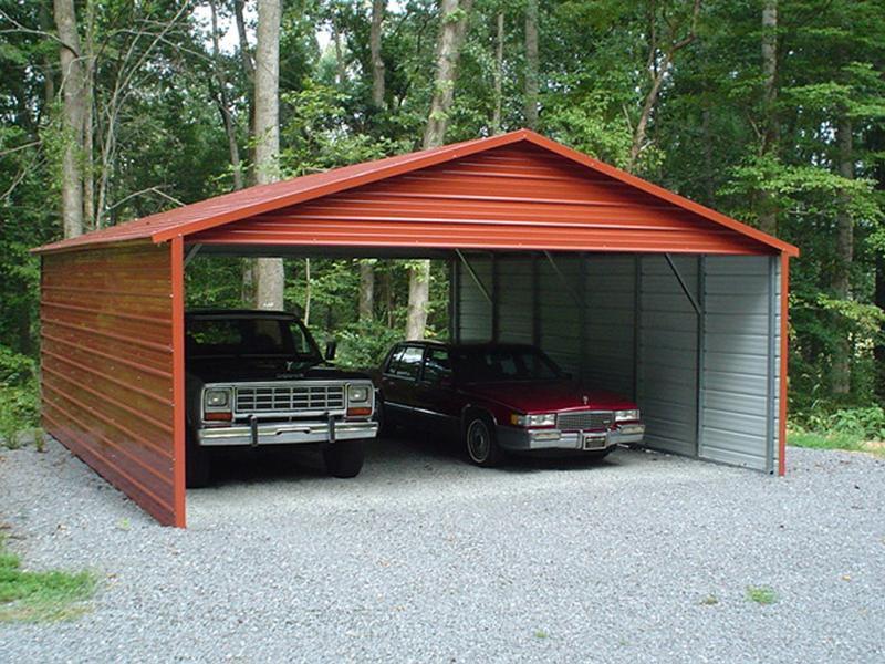 26X25X8 Vertical Roof Carport #CP043