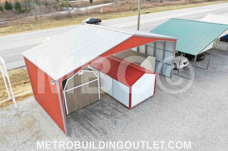 ***DISCOUNTED*** 40X20X14 Vertical Roof Carport DISPLAY