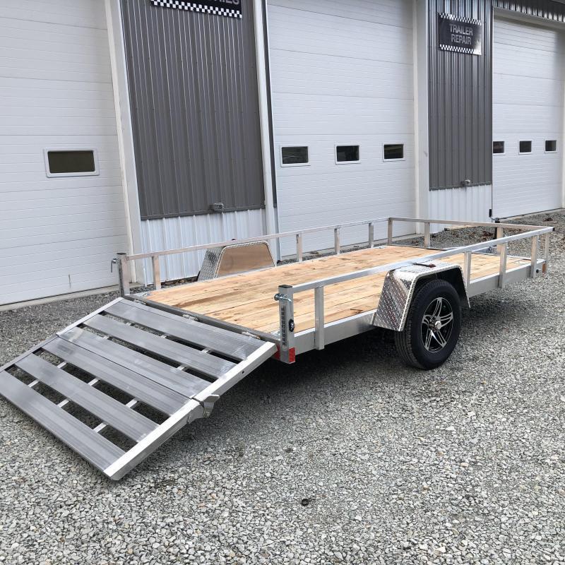 2022 Stealth Trailers 6.5x12 Phantom II Aluminum Utility Trailer