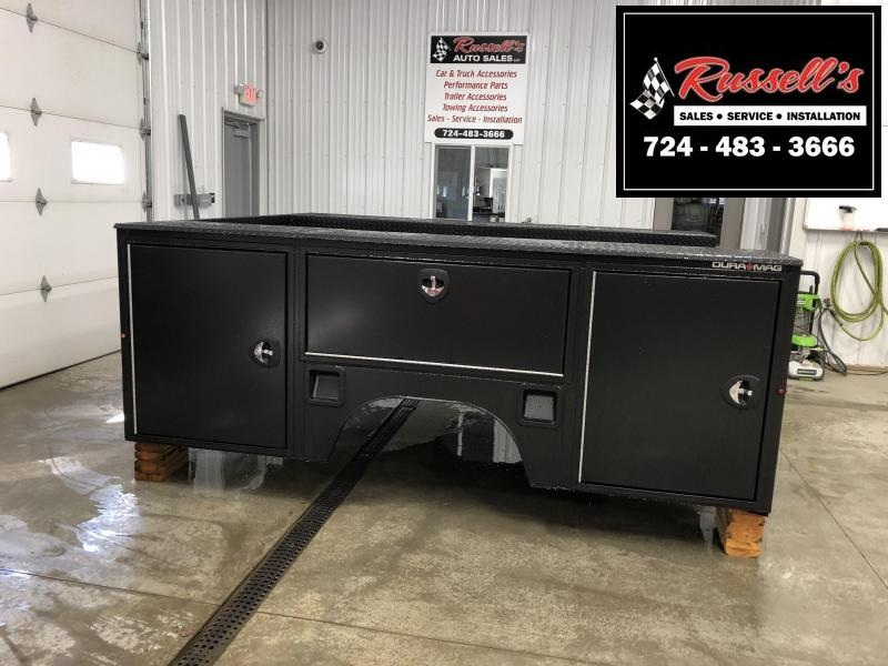 """DuraMag S-Series Aluminum Service Body 60""""ca Cab and Chassis DRW Black"""