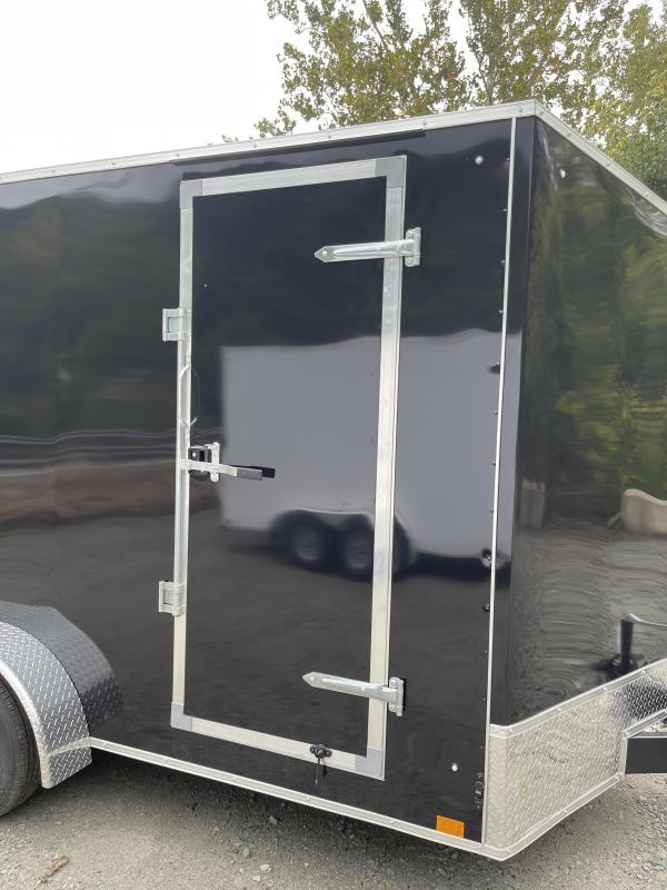 2022 Discovery Trailers 7x14 ET 12'' Extra Height Beavertail Enclosed Cargo Trailer