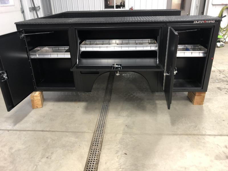 DuraMag S-Series Aluminum Service Body DRW Matte Black NEW 2020+ GM