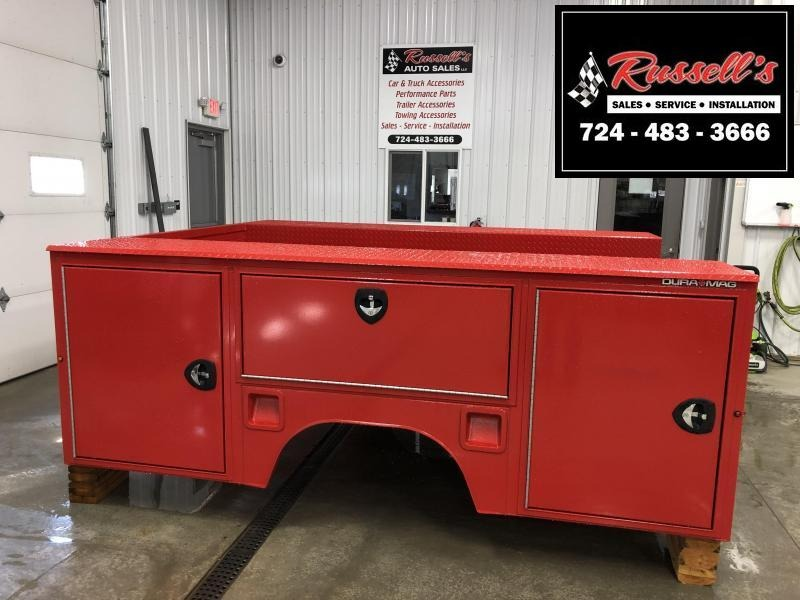 """DuraMag S-Series Aluminum Service Body 60""""ca Cab and Chassis DRW Red"""